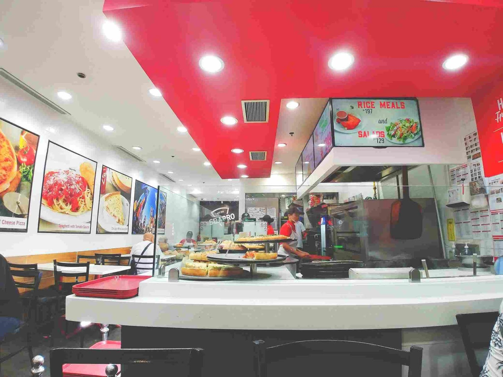 Sbarro Italian cuisine freshly-cooked pizza and pasta
