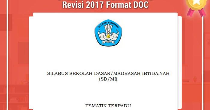 Silabus Kurikulum 2013 Sd Revisi 2017 Format Doc Rpp K13