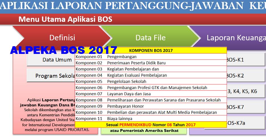 Alpeka Bos Tahun 2017 Aplikasi Pertanggung Jawaban Yang Di Rekomendasikan Kurikulum 2013 Revisi