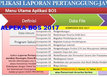 Alpeka BOS 2017 Versi 2 Final Rilis Sesuai Permendikbud 8 Tahun 2017