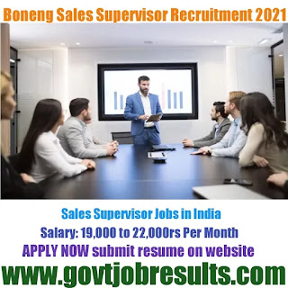 Boneng Transmission Sales Supervisor Recruitment 2021-22