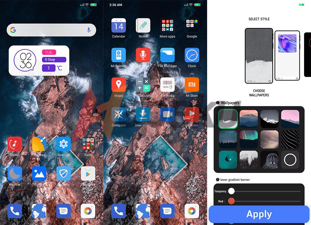 Screenshot theme Five Style MIUI 10 dan 11
