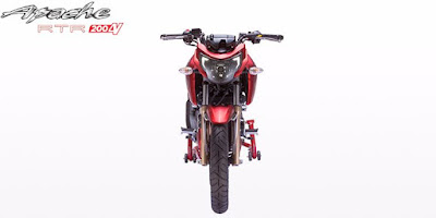 TVS Apache RTR 200 4V front look