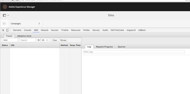 AEM Log Tracer Chrome Plugin