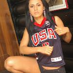 Andrea Rincon, Selena Spice Galeria 27 : Camiseta Basket, Cachetero Negro Foto 6