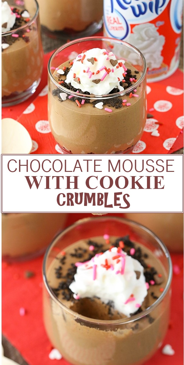 CHOCOLATE MOUSSE WITH COOKIE CRUMBLES #Dessertrecipes