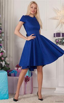 Vestidos Azul Eléctrico de Fiesta