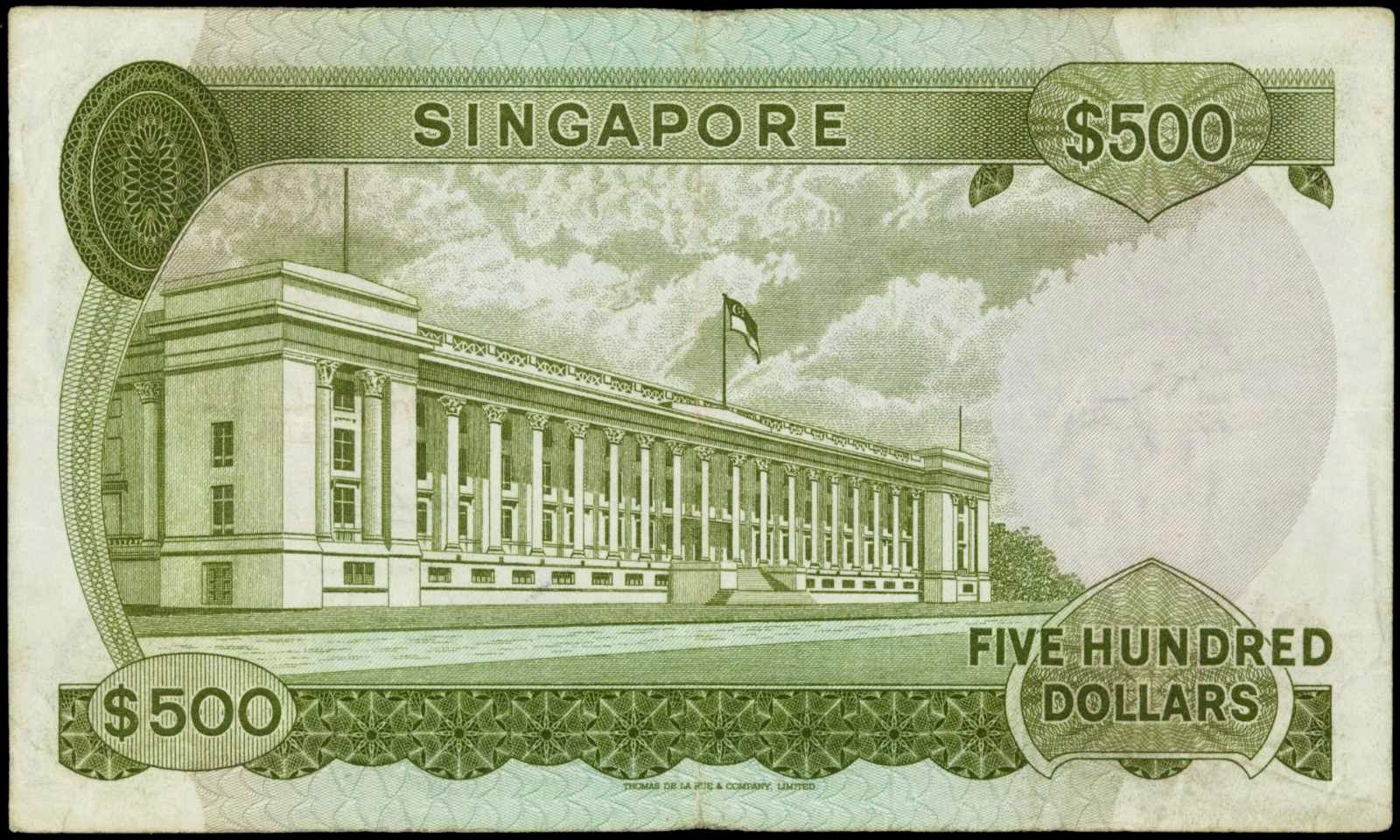 500 Singapore dollar note SGD Orchid