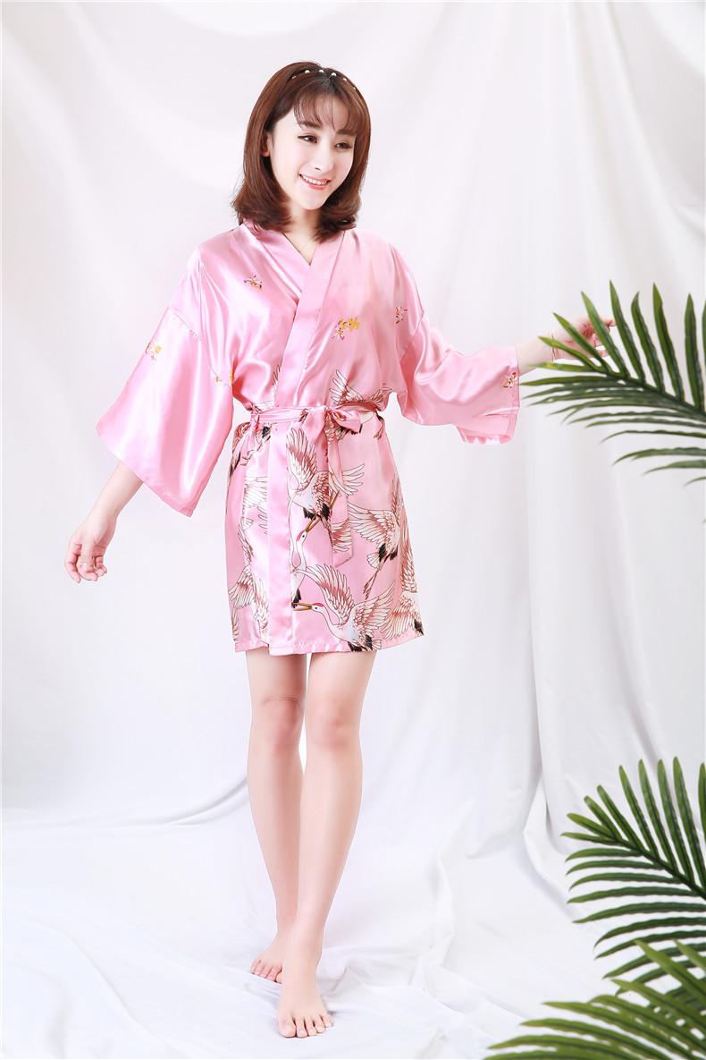 Áo choàng tắm, áo khoác ngủ nữ phi lụa sang trọng 7