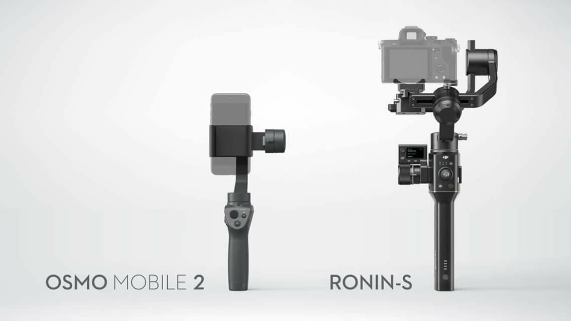 DJI Osmo Mobile 2 и DJI Ronin-S