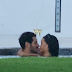 Rihanna and Strange man Caught Making out in the pool. (More photos)