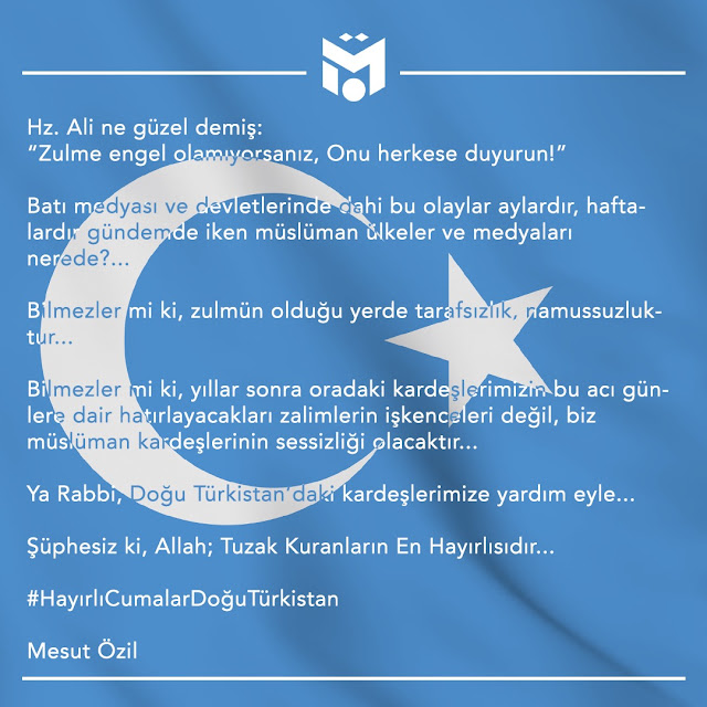 Ungkapan Mesut Ozil Uyghur
