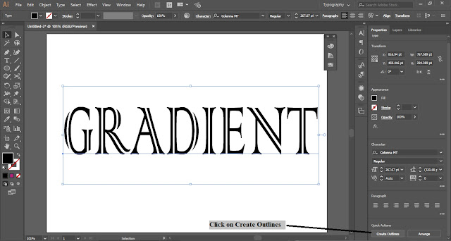 Fill Text with Gradient in Adobe Illustrator