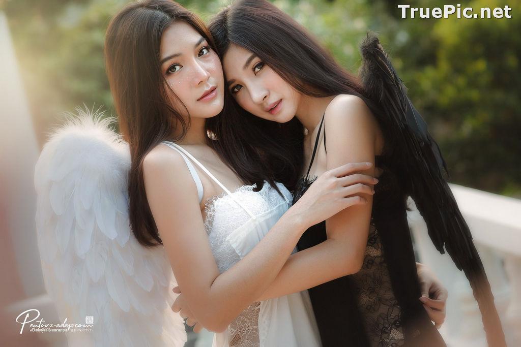 Image Thailand Model - Phitchamol Srijantanet and Pattamaporn Keawkum - Angel and Demon - TruePic.net - Picture-2
