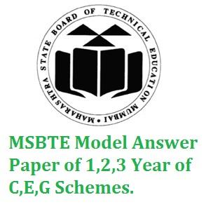 Msbte Model Answer Paper Winter 2015 Pdf