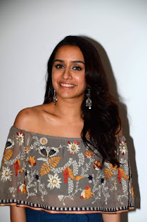 Shraddha Kapoor in a Transparent top Blue Trousers tube promoting movie Half Girlfriend