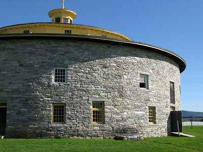 Shaker cowbarn at the Hancock Village