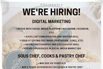 Lowongan Kerja Digital Marketing & Karyawan Bisou Patisserie
