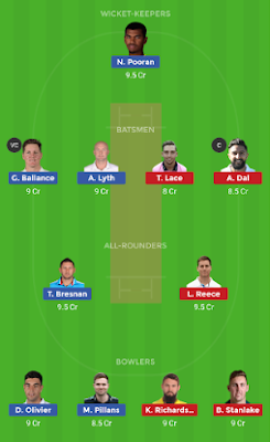 YOR vs DER dream 11 team | YOR vs DER
