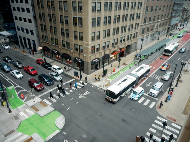 The Loop Link design project in Chicago. (Nate Roseberry, courtesy of NACTO)