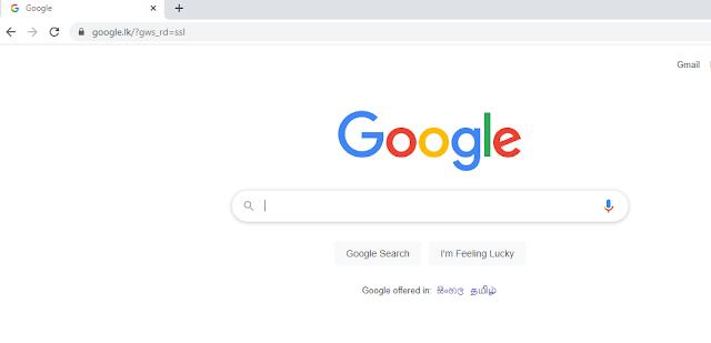 google.lk in google chrome