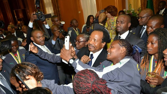 Paul Biya of Cameroon honors Cameroonian Female National Football team