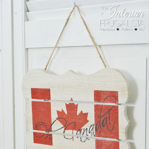 How To Make A Rustic Patriotic Sign For Canada Day