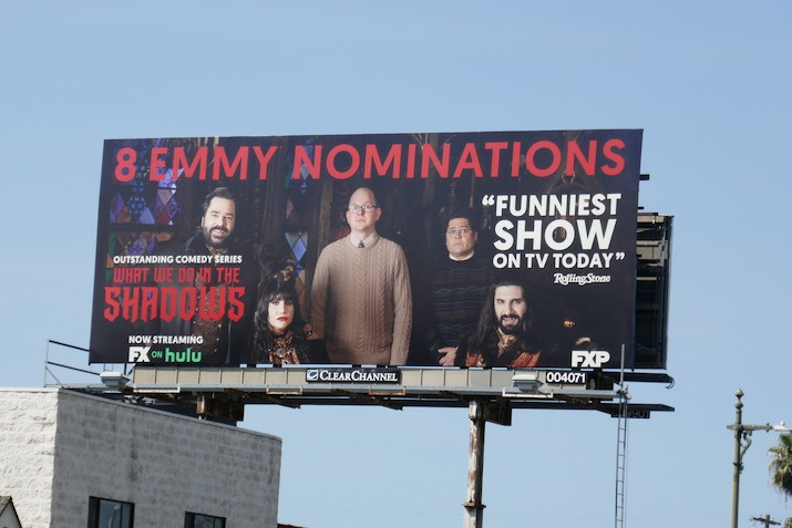 What We Do in Shadows 2020 Emmy nominee billboard