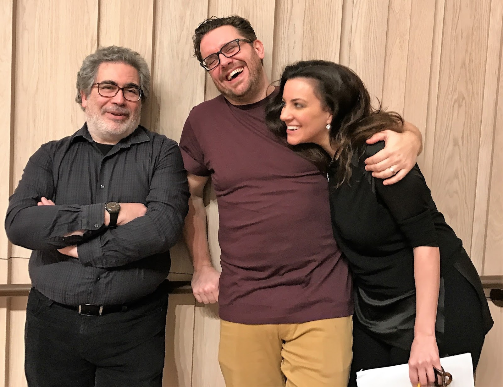 IN REVIEW: Opera Rara's bel canto team of (from left to right) conductor CARLO RIZZI, tenor MICHAEL SPYRES, and soprano JOYCE EL-KHOURY [Photo by Henry Little, © by Opera Rara]