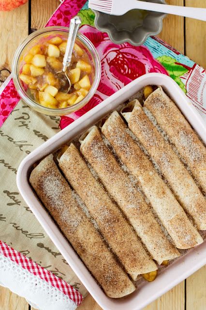 delicious apple taquitos