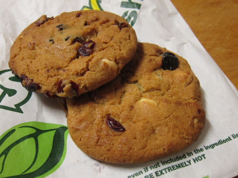 Subway's Birthday Berry Cookies are a limited-time item they're serving up this month to celebrate their birthday (notwithstanding the fact that they were ...
