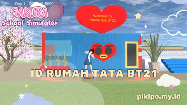 ID Rumah Tata BT21 Di Sakura School Simulator