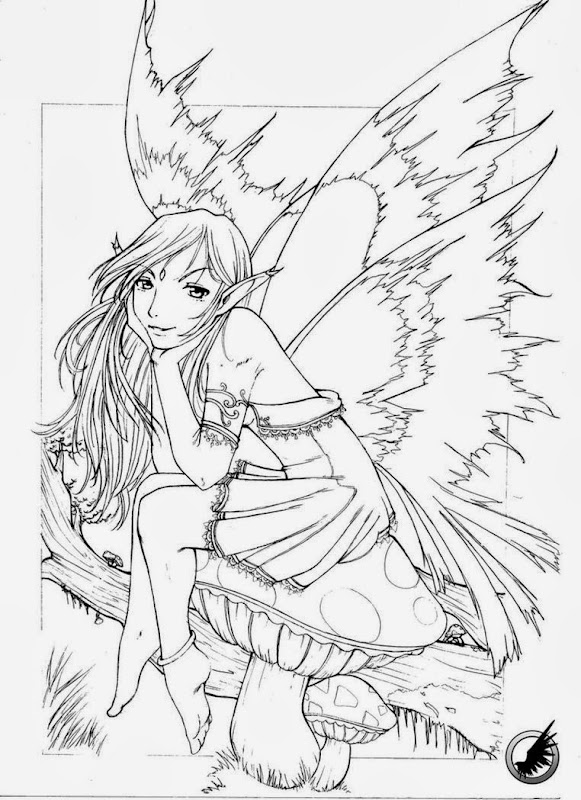 Gothic Fairy Coloring Pages Printable – Colorings.net