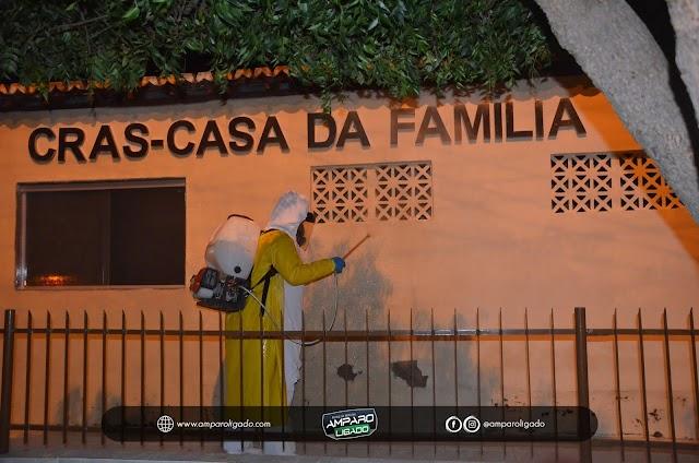 Empresa contratada pela Prefeitura de Amparo realiza Desinfecção em Conjunto Habitacional e Órgãos Públicos