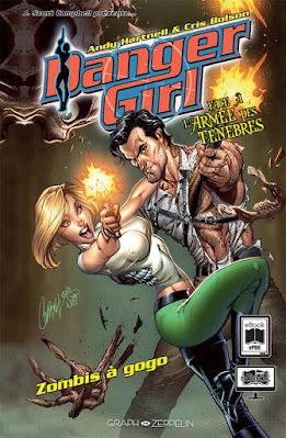 couverture du comics Danger Girl face à l'armée des ténèbres - Zombies à gogo