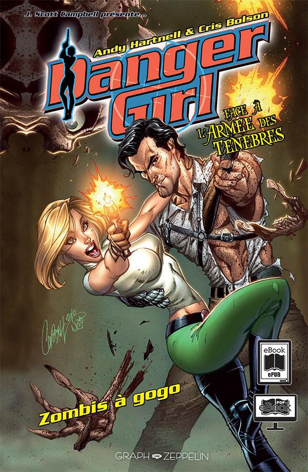 Danger Girl face à l'armée des ténèbres - Zombies à gogo