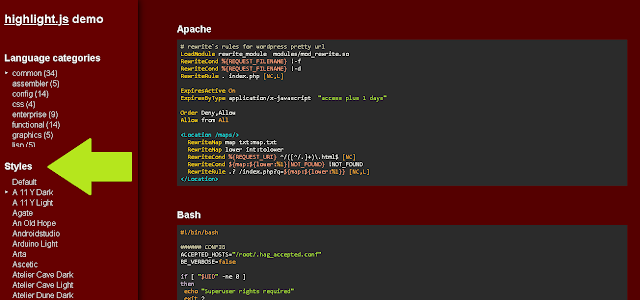 highlight.js demo style