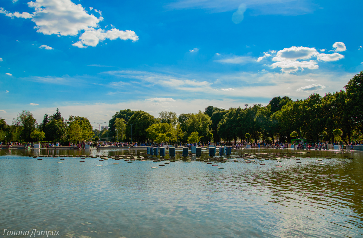 Парк Горького фонтан