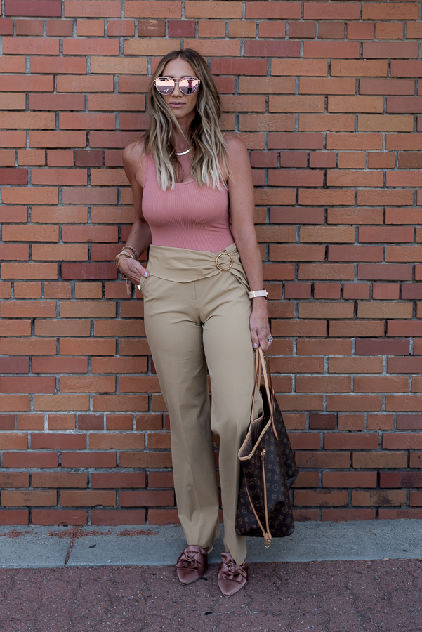how to wear two trends bodysuits and trousers parlor girl