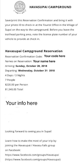 How to Get a Havasupai Permit in 2018
