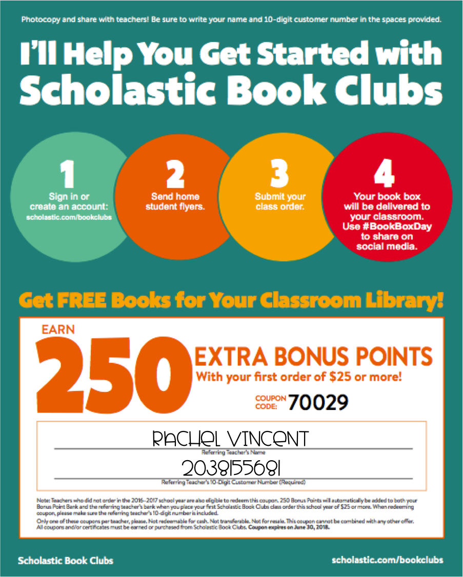 scholastic reading club coupon april 2019