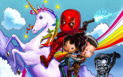 Deadpool Mini Kids - Fond d'Écran en Full HD 1080p