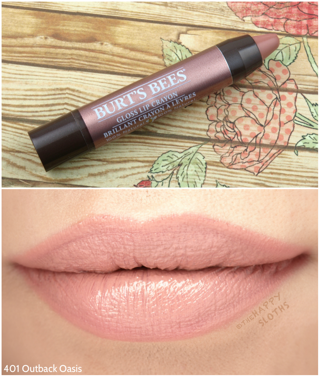 Burt's Bees Gloss Lip Crayon in 401 Outback Oasis: Review and Swatches