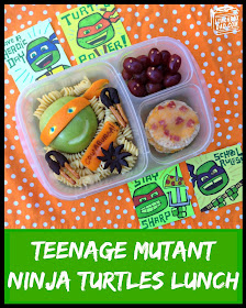 TMNT Teenage Mutant Ninja Turtles Bento Lunch and Giveaway