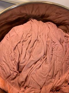 DIY dyed duvet cover