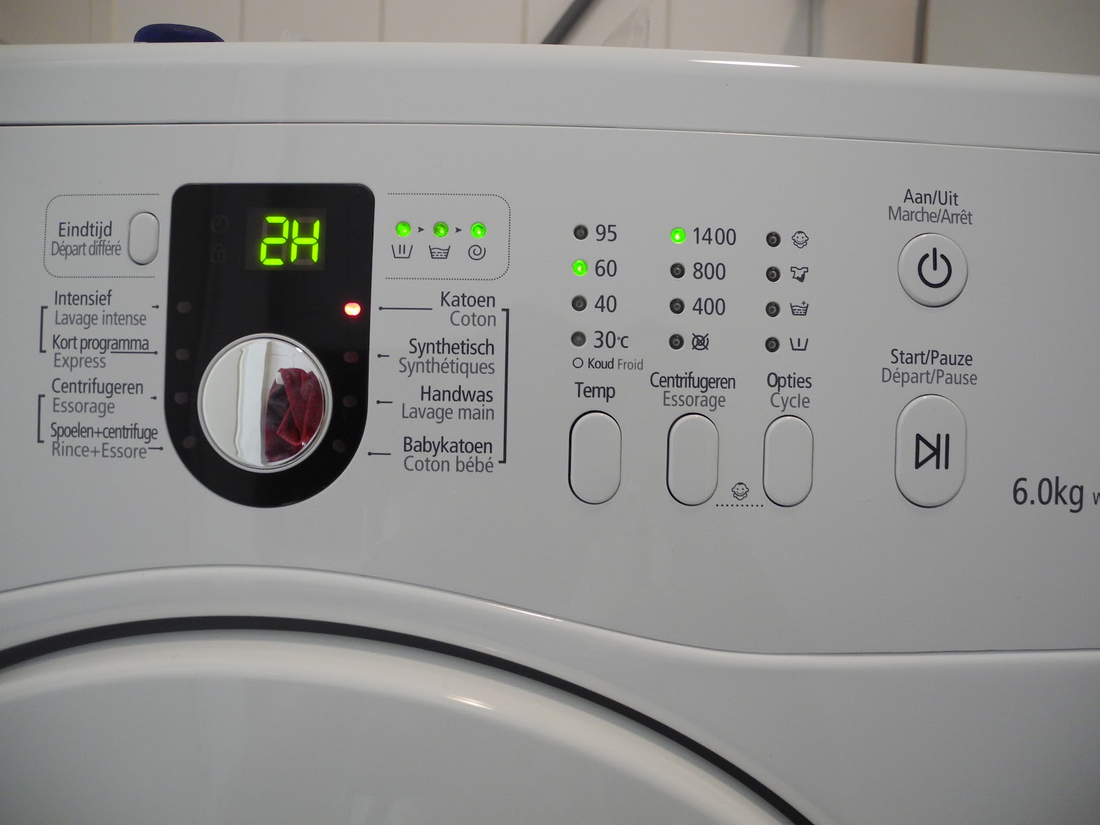 Laundry Settings Machine