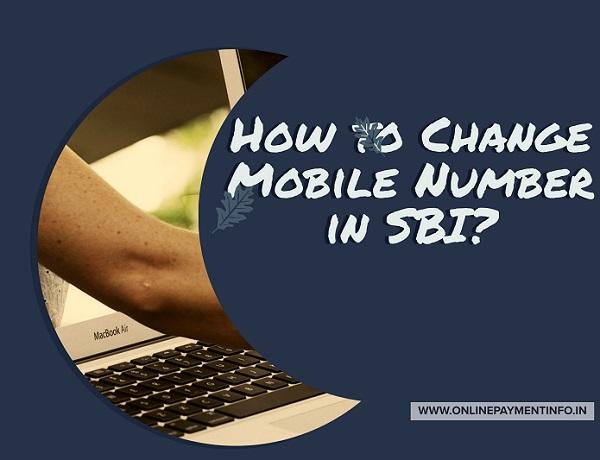 change sbi mobile number online
