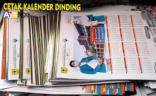 harga cetak kalender dinding murah di Cabangbungin, Bekasi