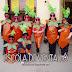 Disfraz de zanahoria carnaval escolar, hecho con bolsa de basura