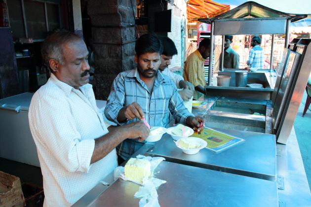 The seasonal original fruit ice cream at Famous Ice Cream, Hyderabad
